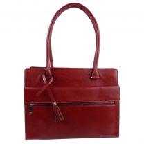 Ladies Italian Vintage Red Leather Shoulder/Work Bag Handbag by Visconti Tote