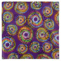Tie Dye Style Psychedelic Happy Face Bandana Headwear Scarf Mouthcovering