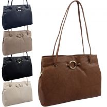 Ladies Classic Leather Versatile Shoulder Handbag by GiGi Stylish