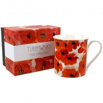 Fine China Mug With Poppy Design Part Of The Turnowsky Collection Gift Boxed