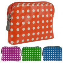 Ladies Polka Dot Leather Coin Purse/Wallet By Golunski Graffiti Credit Card
