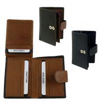 Mens Leather Soft Slim Credit Card Wallet by Golunski; Zen Collection RFID