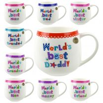 Fine China Worlds Best... Collection MUG/CUP by Leonardo Gift Box Family Friends Birthday
