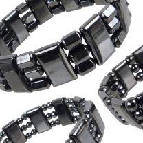 Quality Mens Ladies Magnetic Hematite Stretchy Expandable Bracelet
