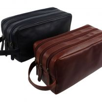 Oakridge Leather Mens Large Washbag/Toiletry Bag