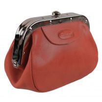 Ladies Small Leather Red Coin Change Purse by Hansson Pouch Gift Mother's Day