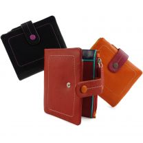 Ladies Leather Soft Small Tabbed Bi-Fold Purse/Wallet by Visconti; Mimi Gift Box