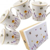 Gift Boxed Set of 4 Mugs Busy Bees Range by The Leonardo Collection