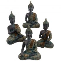 Verdigris Thai Buddha 14.5cm Tall 4 Designs Meditation Mindfulness Metta