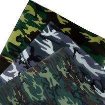 Camouflage Bandana 3 Styles Army Military Forces Biker Jungle Forest Green