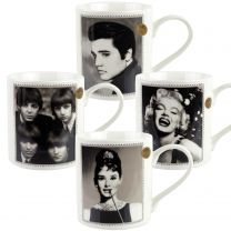 Fine China Famous Icon Celebrity MUG CUP by The Leonardo Collection Gift Boxed Idol Pop