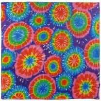 Mens Ladies Psychedelic Psy Colour Burst Tie Dye Bandana Bandanna Trance Goa Hippy