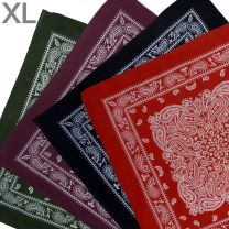 "XL Montana Paisley Bandana Soft Lightweight Cotton Extra Large 26"" x 26"" Mouth Covering"