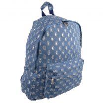 Ladies Girls Backpack Rucksack by Woodbridge School College Bag Travel Blue