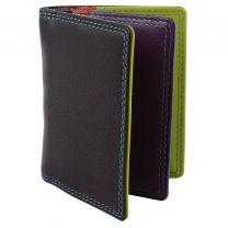 Leather Credit Card Holder by Golunski; Graffiti Gift Boxed Travel Handy - Black/Tropical