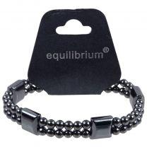 Equilibrium Quality Mens Ladies Stretchy Expandable Hematite .3mm Bead Bracelet