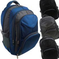 Lorenz Mens Boys Nylon Backpack Rucksack Travel School Work Gym College
