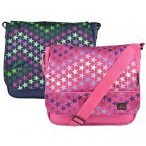 Lightweight Stars Design Canvas Messenger Bag by METRO Cross Body Shoulder Unisex