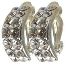 Beautiful Crystal Clip On Earrings A Touch Of Glamour Dainty Pretty Sparkly Stones