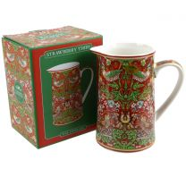 China Jug by William Morris Strawberry Thief Design Gift Boxed Red