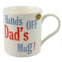 The Leonardo Collection China Coffee Mug/Cup Hands Off Dads Mug