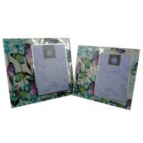 Coloured Butterfly Mirrored Photo Frame 2 Sizes by Leonardo Gift Box Mum Nan