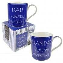 Dad/Grandad You're Awesome Mug Cup by Leonardo Gift Boxed Fathers Day