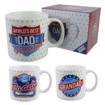 World's Best DAD DADDY GRANDAD Jumbo MUG/CUP by Leonardo Gift Box Fathers Day