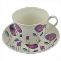 Mackintosh Design Mug/Cup & Sauchder Set by Leonardo China Gift Box Pink