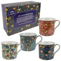 The Leonardo Collection Set of Four China Mugs by William Morris Birds Collection