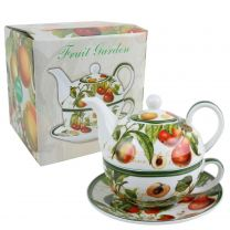 Classic Tea For One by The Leonardo Collection Fruit Garden Ochard Handy Kitchen Gift Boxed