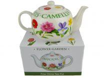 Flower Garden Range Fine China Tea Pot by The Leonardo Collection Gift Boxed Present Christmas Birthday