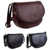 Rowallan of Scotland Ladies Leather Saddle/Shoulder Bag - Savona Collection