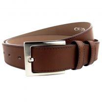 """Stylish Mens Full Grain Brown Leather Belt 1.35"""" by Ollys; Duke Design"""