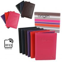 Ladies Mens Leather Passport Holder RFID Protection by Mala Origin 6 Colours