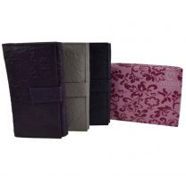 Ladies Long Embossed Leather Purse Wallet by Mala Rimini Collection Floral
