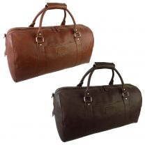 Mens Large Leather Holdall by Mala; Django Collection Travel Overnight
