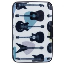 Guitars Card Holder Wallet Hard Case Contactless Protected