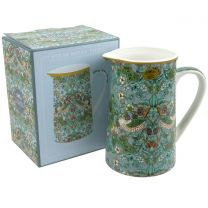 China Jug by William Morris Strawberry Thief Design Gift Boxed Teal
