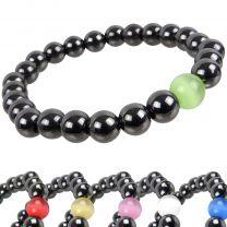 Hematite And Glass Bead Power Stone Bracelet