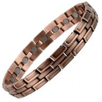 Stylish Magnetic Copper Alloy Antique Finish Bracelet Hi Strength NdFeB 20 Magnets Single Row Therapy
