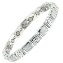 Ladies Magnetic Bracelet Faux Mother of Pearl Gemstones Magnets Health