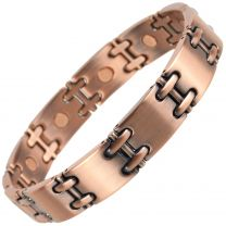 Stylish Magnetic Copper Alloy Bracelet Hi Strength NdFeB 10 Magnets Single Row Therapy