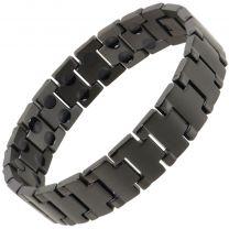 Sisto-X Mens Stainless Steel Magnetic Bracelet Black Cobra Health Rare Earth