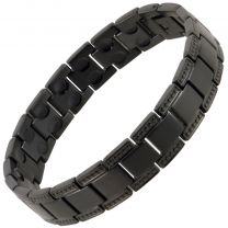 Sisto-X Mens Titanium Magnetic Bracelet Black Lynx Hi Strength Healing Boxed