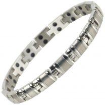 Sisto-X Ladies Titanium Magnetic Bracelet with Chrome Finish Stylish 34 NdFeB Magnets Health Therapy