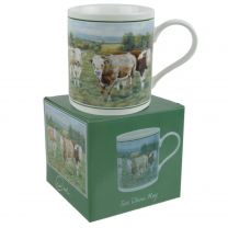 Fine China Cow Mug/Cup by Cachet Young Ones Collection Baby Calfs Gift Boxed