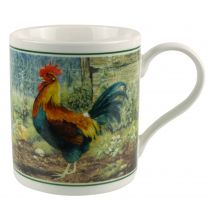 China Rooster Mug/Cup by Cachet Farmyard Collection Cockerel Gift Boxed