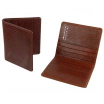 Mens Embossed Leather Credit card Holder By Prime Hide Leather