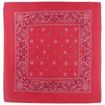 Cerise Pink Paisley Bandana Bandanna Scarf Classic Pattern With An Alternate Design